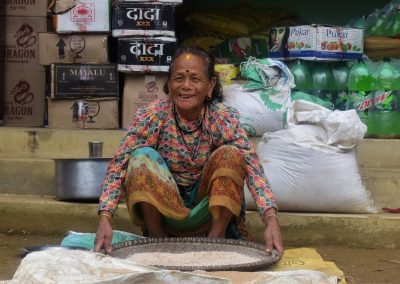 A local woman in a local market enroute - HGA Women's Trek 2019