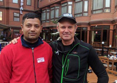 Seane Pieper with local, in Kathmandu